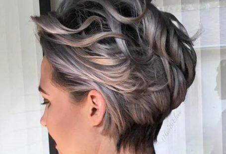 Short silver curls
